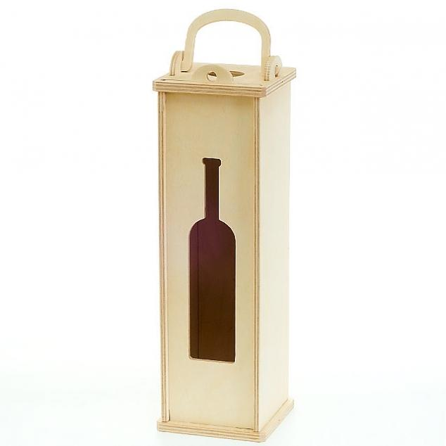 Пенал для вина из дерева